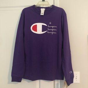 Champion purple heritage tee
